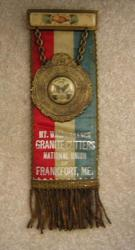 Granite Cutters' National Union Badge, Frankfort