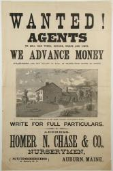 Ad for nursery sales agents, Auburn, ca. 1880