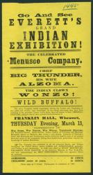 Notice for Indian exhibition, Wiscasset, ca. 1870