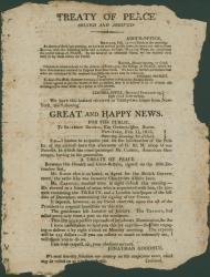 Peace announcement, 1815