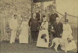 Blaines and guests, Bar Harbor, 1889