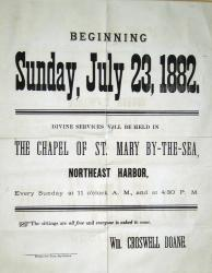 Announcement for the Opening of St. Mary's By the Sea, 1882