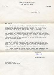 Donald Bryant retirement letter, Seal Harbor, 1983