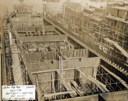 Bow, Liberty Ship, South Portland, 1943