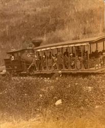 Green Mountain Rail Road Train and Car