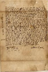 Thaddeus Clark letter on King Philip's War, Portland, 1676