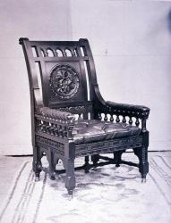 Henry Wadsworth Longfellow's chair, Cambridge, Massachusetts, ca. 1880