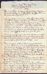 Cyprian Southack letter concerning Casco fort, 1705
