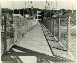 Androscoggin River pedestrian bridge, 1936