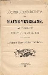Civil War reunion program, 1881
