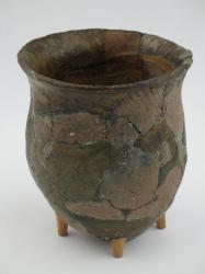 Reconstructed ceramic pot, ca. 700 BCE