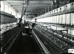 Spinning Room of Pepperell Mills, Biddeford, 1910