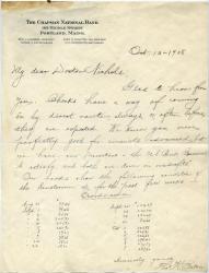 Sanatorium overdraft notice, 1908