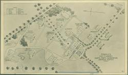 Stevens' plan of Maine State Sanatorium, Hebron, ca. 1908