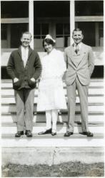 Patients and nurse, Western Maine Sanatorium, ca. 1929