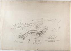 Architectural drawing of proposed sanatorium, Hebron, 1903