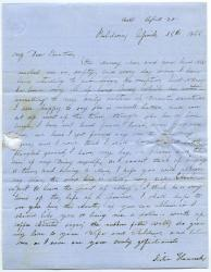 Hannah Pierce letter about farm operations, Baldwin, 1855