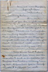 John Marshall Brown letter from Sharpsburg, 1862