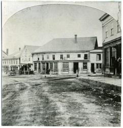 Intersection of Main and Alfred Streets, Biddeford, 1872
