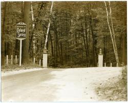 Rear entrance, Poland Spring Resort, ca. 1920