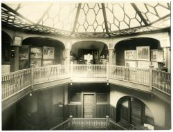 Interior, Maine State Building, Poland Spring, ca. 1900