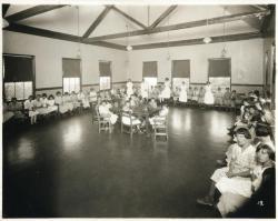Girls, New Gloucester Hall, Pownal State School, ca. 1937