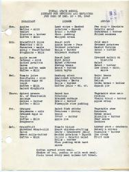 Dietary for officers and employees, Pownal State School, 1943