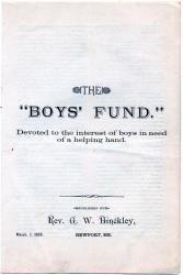 Boys' Fund, Newport, 1888