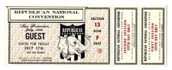 Guest pass, 1964 Republican National Convention