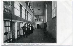 Corridor, Maine State Prison, Thomaston, ca. 1915
