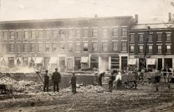 Watts Block Fire, Thomaston 1915
