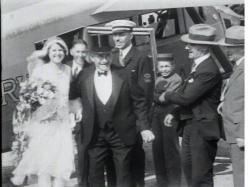 Olson-Oberg aerial wedding, Caribou, 1930