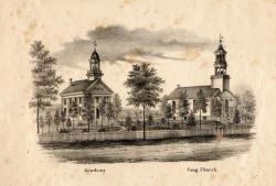 Thomaston Academy and Congregational Meeting House, Thomaston, ca. 1855