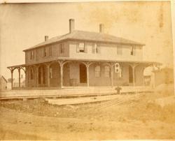 Railroad Depot, Thomaston, 1871