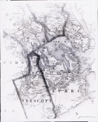 Map of Cobscook Bay Area, 1881