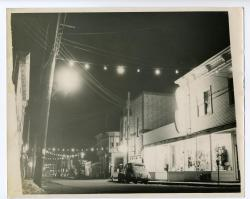 Christmas on Water Street, Lubec, ca. 1940
