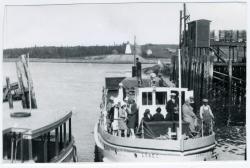 Ferry Lubec at Dock, Lubec, ca. 1935