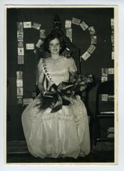 Susie Knight, Sardine Queen Ball, Lubec, 1949