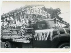 R.J. Peacock Canning Co. Float, Lubec, 1950
