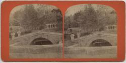 Bridges at Rollo Pond, Farmington, circa 1895