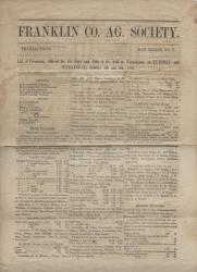 1863 Franklin Co. Agricultural Newsletter