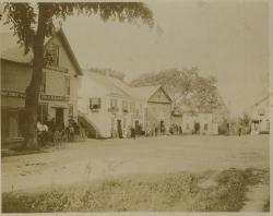 Upper Corner businesses, Hampden, circa 1904