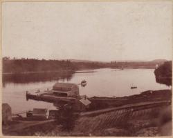 Wharf of the Boston and Bangor Steamship Company, Hampden, 1916