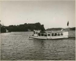 Steamship Gypsie, entering the Sowadabscook Stream, circa 1895