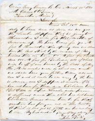 John Bailey to Edward E. O'Brien, Thomaston, 1861