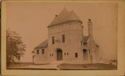 Newly completed Patten Free Library, Bath, ca. 1890