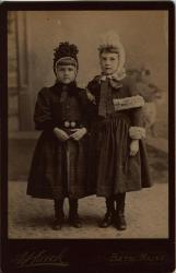 Lorena and Carrie Dunton, Bath, ca. 1890