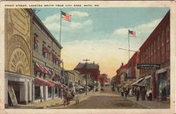 Front Street postcard, Bath, ca. 1914