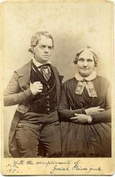 Josiah and Evelina Lewis Pierce, ca. 1855