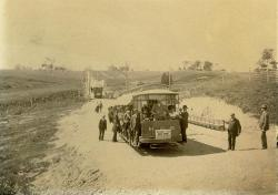 The Bangor, Hampden & Winterport Electric Company trolley, Hampden, circa 1900